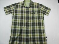 KUHL Athletik Fit Outdoor Button Up Shirt Mens Medium Green Short Sleeve Hike