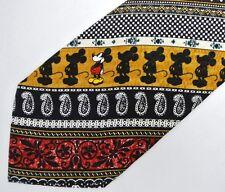 Mickey Mouse Paisley Silk Tie