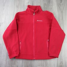 Vintage Mens Sprayway Alaska Interactive Full Zip Fleece Jacket S Red