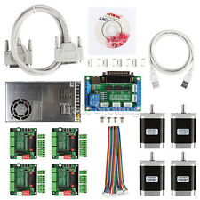 CNC 4-Axis Kit 1 with TB6560 Motor Driver Breakout Board Nema23 270 Oz-in Motor