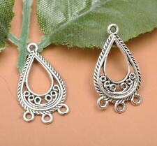 10pcs Tibetan silver charm earring Suitable for Connectors Jewelry Findings