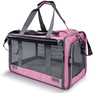 GAPZER Airline Approved Pet Carrier, Soft-Sided Pet Carrier for Big Medium Cats