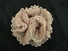 FALLOW-COLORED SPARKLY CUTE LACED SCRUNCHIE - UNIQUE! NEW! COMBINE SHIPPING!