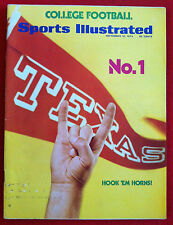 1973 NCAA ISSUE #1 TEXAS LONGHORNS - HOOK'EM HORNS - Sports Illustrated NO LABEL