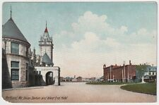 Union Station and West End Hotel, Portland, Maine - Antique Postcard
