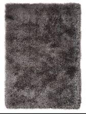 Indulgence Shimmer Shaggy Rug Grey 80x150cm