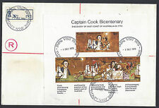 1970 Papal Visit registered cover with special cancels and reg label.