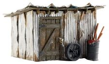 Tin Shack from Woodland #BR5056 - Fully weathered for HO Model Train layout