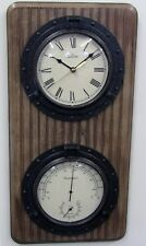 BULOVA  WALL CLOCK - THERMOMETER, HYGROMETER AND CLOCK C3734