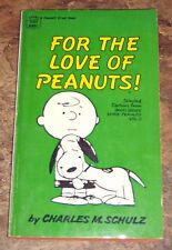 Vintage 1968 For The Love of Peanuts! Charles M. Schulz Paperback Cartoon Book