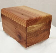 Redwood pet cremation urn - handmade in the U.S.A.