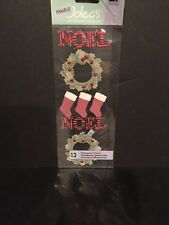 EK Success Touch of Jolee's NOEL WREATH Dimensional Stickers Scrapbooking