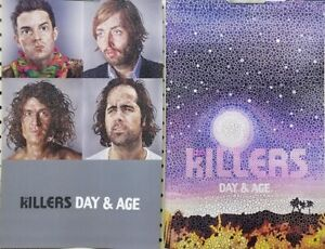 The Killers 2008 Day&Age 2 Sided promotional poster Flawless New Old Stock