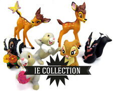 DISNEY BAMBI SET 7 FIGURE STATUETTE cerbiatto Tamburino fiore Faline action toy