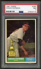 1961 Topps Chuck Estrada #395 PSA 7 NM Baltimore Orioles Baseball Card Read