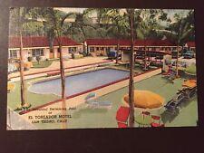 El Toreador Motel - San Ysidro, Ca. vintage postcard