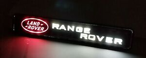 For RANGE ROVER LED Light Car For Front Grille Badge Illuminated Decal Sticker