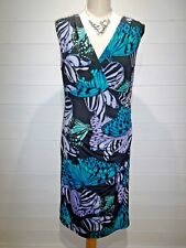 Kaleidoscope Dress~Size 16~Black Purple Green~Sleeveless~Casual, Party~1692
