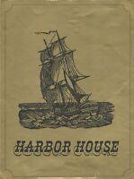 Vintage HARBOR HOUSE Restaurant Menu San Diego California 1967