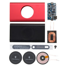 Qi Wireless Type C Micro USB Power Bank Case Battery Box DIY Kit for iPhone X 8