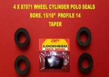 "4 X 87071 LOCKHEED WHEEL CYLINDER POLO SEALS 15/16"" BORE.  PROFILE 14"