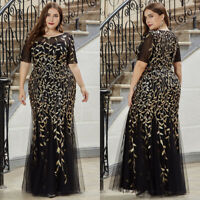 Ever-Pretty Women Plus Size Formal Glitter Evening Mermaid Prom Party Dresses