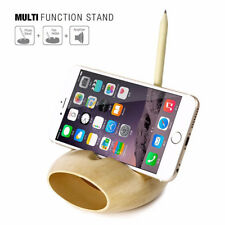 Desktop Charging Stand Sound Amplifier Dock Holder Wood for iPhone X 8 7 6