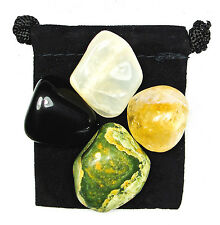 RELEASING THE PAST (Moving Forward) Tumbled Crystal Healing Set = 4 Stones + Bag