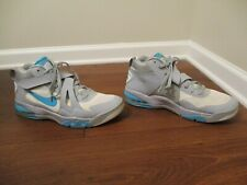 Used Worn Size 13 Nike Air Force Max CB 2 Hyperfuse Shoes Wolf Grey, Gamma Blue