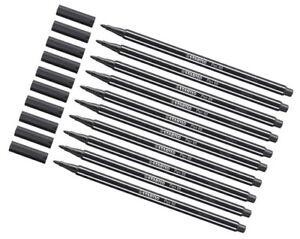 10 x Stabilo Pen 68 Premium Filzstifte Fasermaler, schwarz