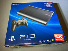 Sony Playstation 3 PS3 Super Slim 500GB Black Console Brand New
