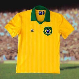 Brazil Adidas Originals 'Brazuca Retro' Soccer Jersey Small Camiseta Pele Futbol