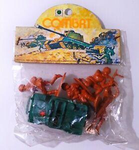 VTG Blister Ri Toys ✱ 4 AMERICAN SOLDIERS & JEEP ✱ Hong Kong 60´s No Airfix #3