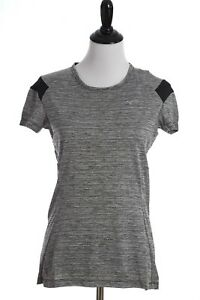 Mizuno Alpha Short Sleeve Drylite Reflective Athletic Shirt Womens Medium Gray