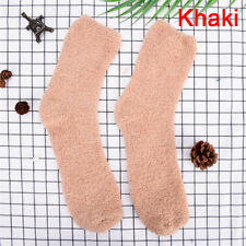 Men Women Extremely Cozy Cashmere Socks Winter.warm Sleep Bed Floor Home 0v Navy Blue