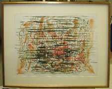 Max Frankel 1950s Mid-Century Abstract Expressionist WC Listed New York Artist