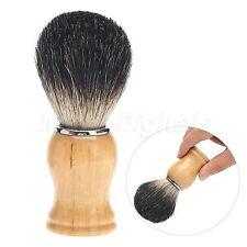 Regalo de silvertip tejón pelo afeitado cepillo mango madera peluquero hombres
