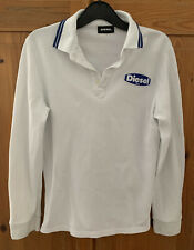 Boys Diesel White Polo Top Age 10