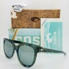 NEW Costa Bimini Sunglasses Ocean Current Grey Silver Mir 580G AUTHENTIC Women