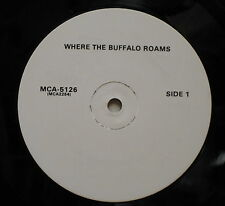 WHERE THE BUFFALO ROAM Soundtrack 1980 US Advance PROMO Only LP NEIL YOUNG Score
