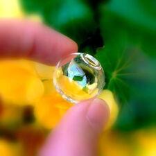 10 Glass Balls  with hole 20mm (miniature/ globes/ hollow/ vials/ bottles)