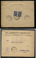 Greece  nice registered cover to US   1920            RS0621