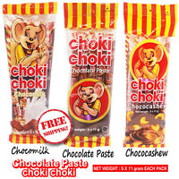Chocolate Paste Choco Milk Cashew Choki 5 Sticks x 11g Per Pack You Must Try It
