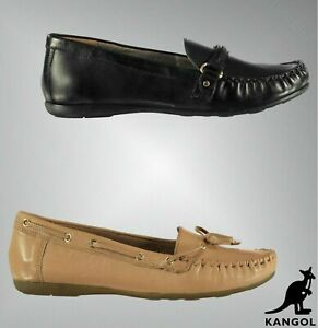 Ladies Kangol Slip On Soft Lining Strap Leather May Loafers Sizes from 4 to 7