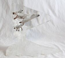 Starlite Originals Polar Bear Lifelike Lucite Sculpture 42/1250 John Cuevas