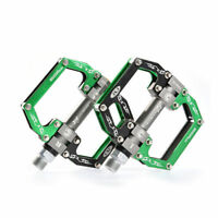"""ROCKBROS Bicycle Pedals Cycling Sealed Aluminum Bearing Pedals Black Green 9/16"""""""