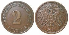J 11   2 Pfennig Kaiserreich 1912 D in VZ  502845