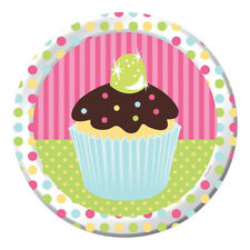 HAPPY BIRTHDAY Sweet Treats LARGE PAPER PLATES (8) ~ Party Supplies Dinner Cake