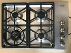 """Miele KM3464GSS 30"""" 4-Burner Gas Stainless Steel Gas Cooktop Hexa Grate Design photo"""