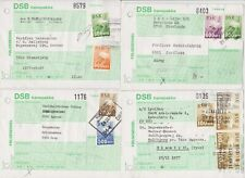 DENMARK - DSB BANEPAKKE - DANISH RAILWAY PACKET/PARCEL FORMS WITH STAMPS (4) P